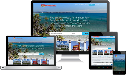 Palm Beach Accommodation displayed beautifully on multiple devices