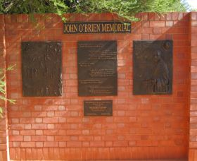 John OBrien Commemorative Wall - Palm Beach Accommodation