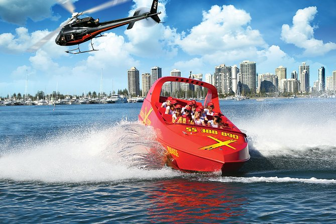 Gold Coast Helicopter 10 min Flight and Jet Boat Ride - Palm Beach Accommodation