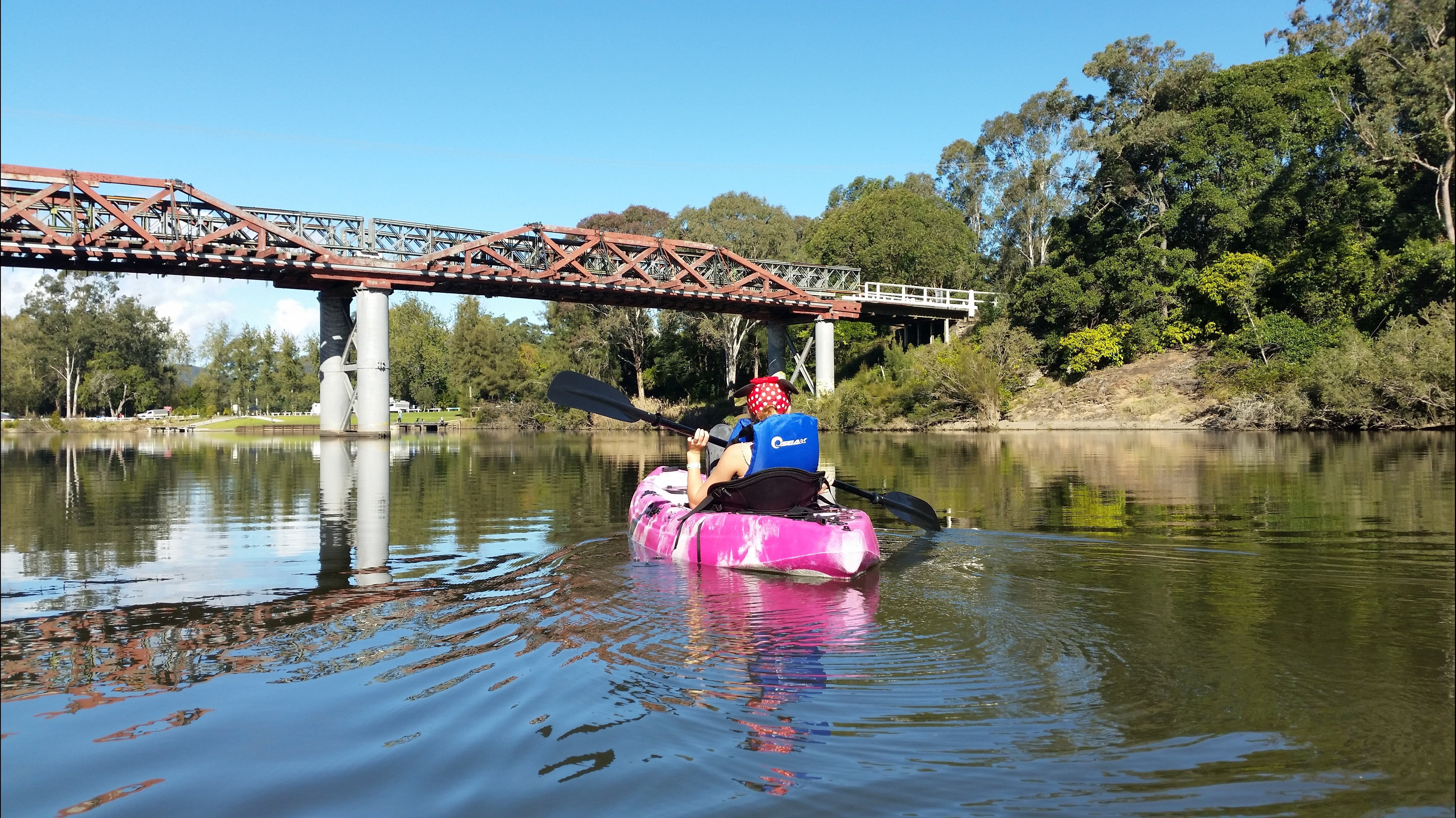 Canoeing at Clarence Town - Palm Beach Accommodation