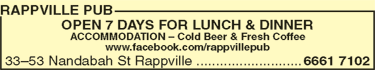 Rappville Pub - Palm Beach Accommodation