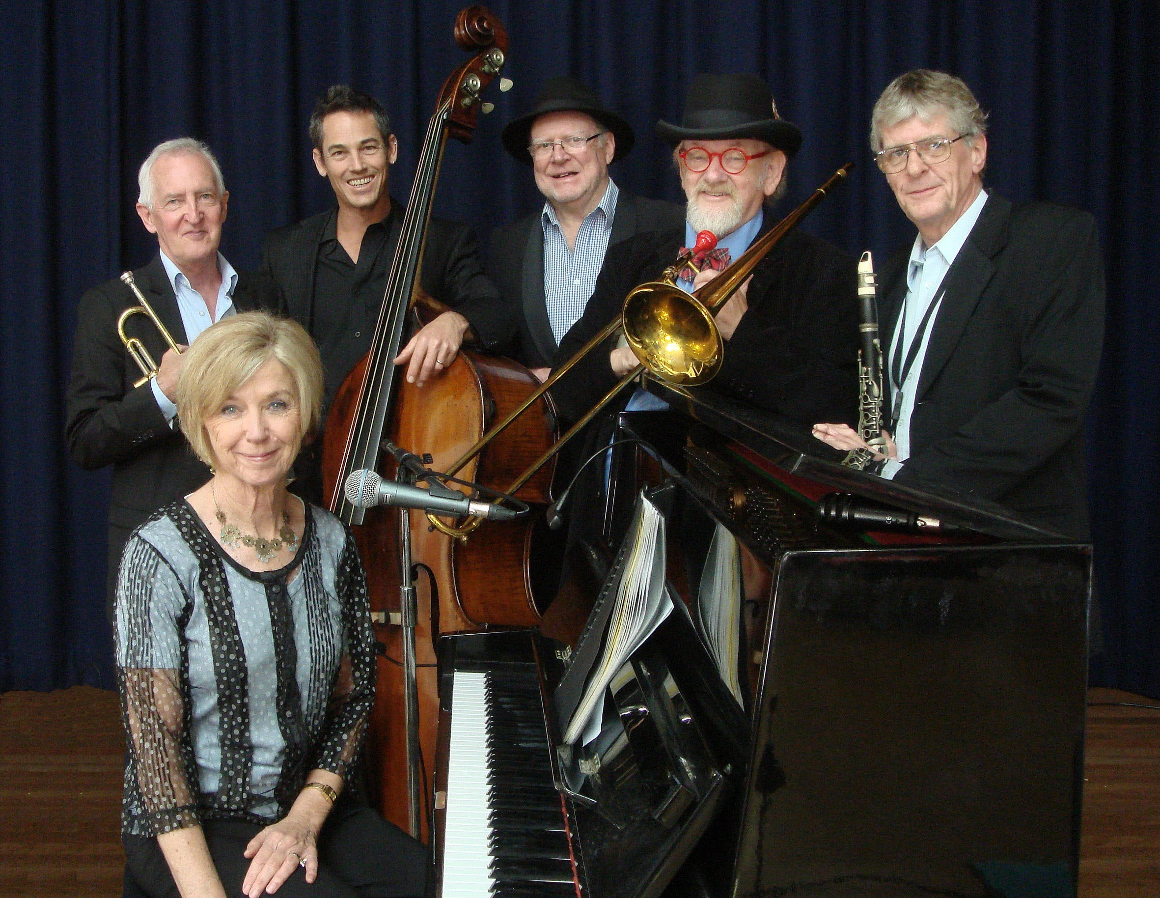 The Caxton Street Jazz Band in the Swigmore Hall at Robert Channon Wines - Palm Beach Accommodation